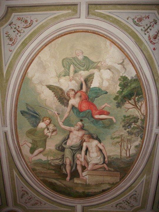 Abramo - Sacrificio di Isacco - Siena, centro storico