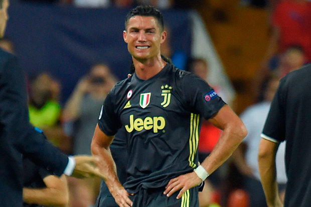 Tears CR7 with Juve