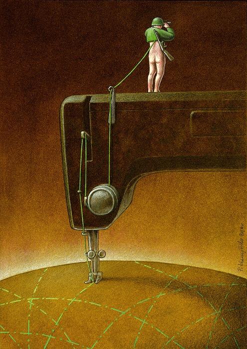 Illustratotion of Pawel Kuczynski