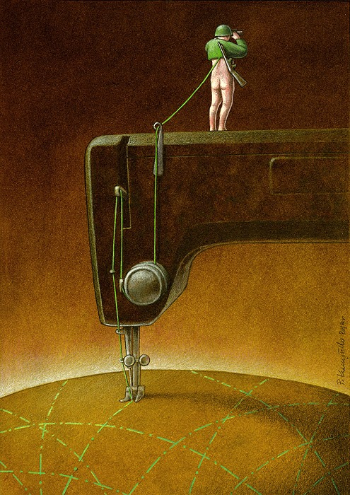 Illustratotion of Pawel Kuczynski